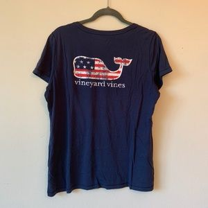 Vineyard Vines American Flag Whale Shirt